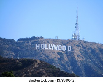 Los Angeles (April 2019) - Hollywood Sign, famous landmark in Los Angeles, California