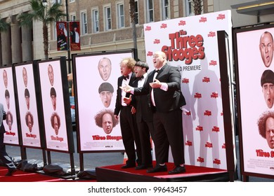 """LOS ANGELES - APRIL 7: Sean Hayes, Chris Diamantopoulos, Will Sasso arrives at """"The Three Stooges"""" Premiere at Graumans Chinese Theater on April 7, 2012 in Los Angeles, CA"""