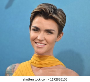 "LOS ANGELES - AUG 06:  Ruby Rose arrives to the ""The Meg"" US Premiere  on August 6, 2018 in Hollywood, CA"