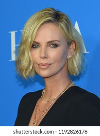LOS ANGELES - AUG 09:  Charlize Theron arrives to the Hollywood Foreign Press Association's Annual Grants Banquet  on August 9, 2018 in Hollywood, CA