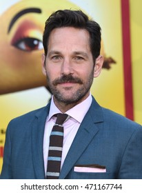 "LOS ANGELES - AUG 09:  Paul Rudd arrives to the ""Sausage Party"" Los Angeles Premiere on August 09, 2016 in Westwood, CA"