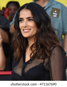 """LOS ANGELES - AUG 09:  Salma Hayek arrives to the """"Sausage Party"""" Los Angeles Premiere on August 09, 2016 in Westwood, CA"""