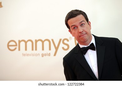 LOS ANGELES - AUG 11:  ED HELMS arriving to Emmy Awards 2011  on August 11, 2012 in Los Angeles, CA