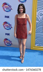 LOS ANGELES - AUG 11:  Lucy Hale arrives for the 2019 Teen Choice Awards on August 11, 2019 in Hermosa Beach, CA