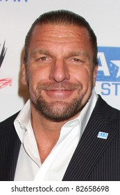 """LOS ANGELES - AUG 11:  Triple H arriving at the """"be A STAR"""" Summer Event  at Andaz Hotel on August 11, 2011 in Los Angeles, CA"""