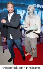 """LOS ANGELES - AUG 12: Ian Ziering, Water Zombie at the Premiere Of SyFy's """"Zombie Tidal Wave"""" held at The Garland Hotel on August 12, 2019 in Los Angeles, California"""