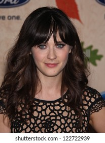 LOS ANGELES - AUG 12:  Zooey Deschanel arriving to FOX Fall Eco-Casino Party 2011  on August 12, 2011 in Culver City, CA