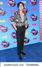 LOS ANGELES - AUG 13:  Cole Sprouse arrives for the Teen Choice Awards 2017 on August 13, 2017 in Los Angeles, CA