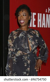 "LOS ANGELES - AUG 14:  Samira Wiley at the FYC Event For Hulu's ""The Handmaid's Tale"" at the DGA Theater on August 14, 2017 in Los Angeles, CA"