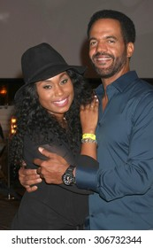 """LOS ANGELES - AUG 15:  Angell Conwell, Kristoff St. John at the """"The Young and The Restless"""" Fan Club Event at the Universal Sheraton Hotel on August 15, 2015 in Universal City, CA"""