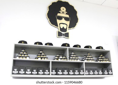 LOS ANGELES - AUG 15: Cannabis products at the Dr. Greenthumb's Cannabis Dispensary Opening (owned by musician B-Real) at 12751 Foothill Blvd. on August 15, 2018 in Sylmar, Los Angeles, CA