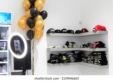 LOS ANGELES - AUG 15: Inside the Dr Greenthumb's store at the Dr. Greenthumb's Cannabis Dispensary Opening (owned by musician B-Real) at 12751 Foothill Blvd. on August 15, 2018 in Los Angeles, CA