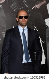 """Los Angeles - AUG 15:  Jason Statham arrives at the """"The Expendables 2""""  Premiere at Graumans Chinese Theater on August 15, 2012 in Los Angeles, CA"""