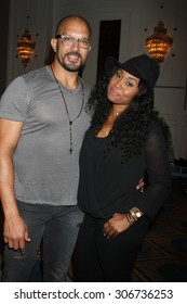 """LOS ANGELES - AUG 15:  Terrell Tilford, Angell Conwell at the """"The Young and The Restless"""" Fan Club Event at the Universal Sheraton Hotel on August 15, 2015 in Universal City, CA"""