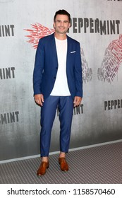 "LOS ANGELES - AUG 17:  Juan Pablo Raba at the Photo Call For STX Films' ""Peppermint"" at the Four Seasons Hotel on August 17, 2018 in Beverly Hills, CA"