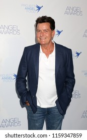 LOS ANGELES - AUG 18:  Charlie Sheen at the Angel Awards 2018 at the Project Angel Food on August 18, 2018 in Los Angeles, CA