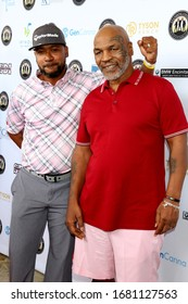 LOS ANGELES - AUG 2:  Columbus Short, Mike Tyson at the Mike Tyson Celebrity Golf Tournament at the Monarch Beach Resort on August 2, 2019 in Dana Point, CA