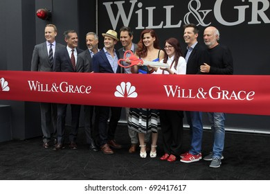 "LOS ANGELES - AUG 2:  Officals, Cast at the ""Will & Grace"" Start of Production Kick Off Event at the Universal Studios on August 2, 2017 in Universal City, CA"