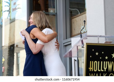 LOS ANGELES - AUG 20:  Jennifer Garner, Judy Greer at the Jennifer Garner Star Ceremony on the Hollywood Walk of Fame on August 20, 2018 in Los Angeles, CA