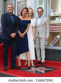 LOS ANGELES - AUG 20:  Steve Carell, Jennifer Garner, Judy Greer, Bryan Cranston at the Jennifer Garner Star Ceremony on the Hollywood Walk of Fame on August 20, 2018 in Los Angeles, CA