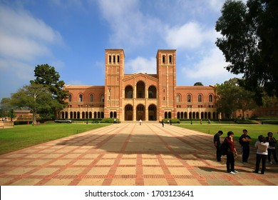 Los Angeles, AUG 21, 2009 - Exterior view of Royce Hall, UCLA