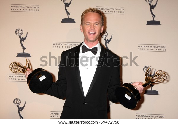 LOS ANGELES - AUG 21:  Neil Patrick Harris in the Press Room of the 2010 Creative Primetime Emmy Awards at Nokia Theater at LA Live on August 21, 2010 in Los Angeles, CA