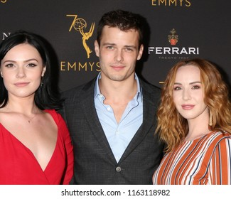 LOS ANGELES - AUG 22:  Cait Fairbanks, Michael Mealor, Camryn Grimes at the Daytime Peer Group ATAS Reception at the Television Academy on August 22, 2018 in North Hollywood, CA