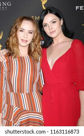 LOS ANGELES - AUG 22:  Camryn Grimes, Cait Fairbanks at the Daytime Peer Group ATAS Reception at the Television Academy on August 22, 2018 in North Hollywood, CA