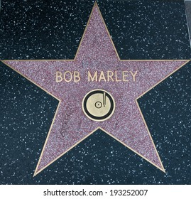 LOS ANGELES - AUG 23 Bob Marley Hollywood Star on street on AUGUST 23, 2013 in Los Angeles, USA.