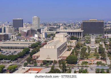 Los Angeles, AUG 23: Morning aerial view of Los Angeles cityscape with Superior Court on AUG 23, 2014 at Los Angeles, California