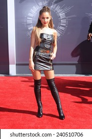 LOS ANGELES - AUG 24:  Ariana Grande arrives to the 2014 Mtv Vidoe Music Awards on August 24, 2014 in Los Angeles, CA