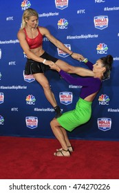 """LOS ANGELES - AUG 24:  Jessie Graff, Maggi Thorne at the """"American Ninja Warrior"""" Screening Event at the Universal Studios on August 24, 2016 in Universal City, CA"""
