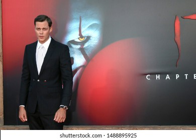 "LOS ANGELES - AUG 26:  Bill Skarsgard at the ""It Chapter Two"" Premiere at the Village Theater on August 26, 2019 in Westwood, CA"