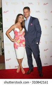 LOS ANGELES - AUG 26:  Chrishell Stause, Justin Hartley at the Television Academy's Daytime Programming Peer Group Reception at the Montage Hotel on August 26, 2015 in Beverly Hills, CA
