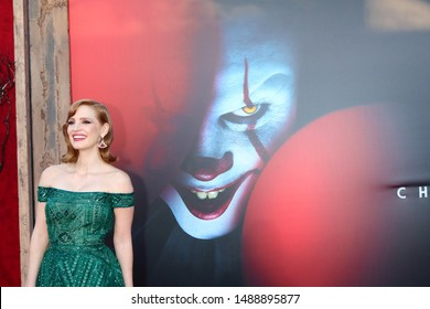 "LOS ANGELES - AUG 26:  Jessica Chastain at the ""It Chapter Two"" Premiere at the Village Theater on August 26, 2019 in Westwood, CA"