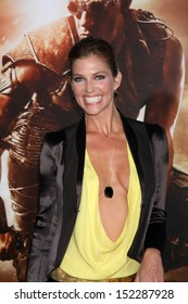 """LOS ANGELES - AUG 28:  Tricia Helfer at the """"Riddick"""" Premiere at the Village Theater on August 28, 2013 in Westwood, CA"""