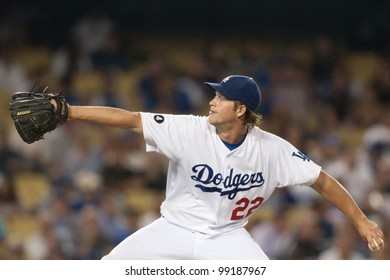 LOS ANGELES - AUG 29  Los Angeles Dodgers starting pitcher Clayton Kershaw   22 during 5300e3533a6