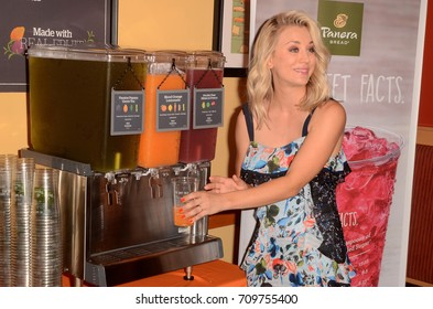 LOS ANGELES - AUG 30:  Kaley Cuoco at the Panera Bread Craft Beverages Launch at Panera on August 30, 2017 in Studio City, CA