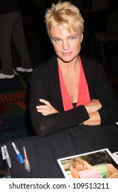 "LOS ANGELES - AUG 4:  Erika Eleniak appearing at the ""Hollywood Show"" at Burbank Marriott Convention Center on August 4, 2012 in Burbank, CA"