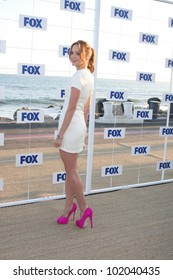 LOS ANGELES - AUG 5:  Jayma Mays arriving at the FOX TCA Summer 2011 Party at Gladstones on August 5, 2011 in Santa Monica, CA