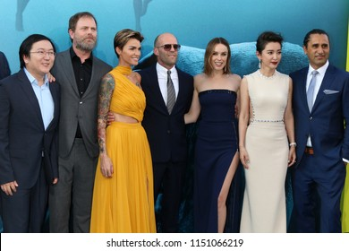 """LOS ANGELES - AUG 6:  The Cast of """"The Meg"""" at the """"The Meg"""" Premiere on the TCL Chinese Theater IMAX on August 6, 2018 in Los Angeles, CA"""