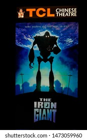 LOS ANGELES - AUG 6: Poster of the Iron Giant Screening and Q & A at TCL Chinese 6 Theatres on August 6, 2019 in Los Angeles, California