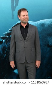 """LOS ANGELES - AUG 6:  Rainn Wilson at the """"The Meg"""" Premiere on the TCL Chinese Theater IMAX on August 6, 2018 in Los Angeles, CA"""