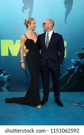 """LOS ANGELES - AUG 6:  Rosie Huntington-Whiteley, Jason Statham at the """"The Meg"""" Premiere on the TCL Chinese Theater IMAX on August 6, 2018 in Los Angeles, CA"""