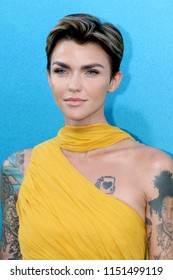 "LOS ANGELES - AUG 6:  Ruby Rose at the ""The Meg"" Premiere on the TCL Chinese Theater IMAX on August 6, 2018 in Los Angeles, CA"