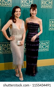 """LOS ANGELES - AUG 7:  Ming-Na Wen, Michelle Yeoh at the """"Crazy Rich Asians"""" Premiere  at the TCL Chinese Theater IMAX on August 7, 2018 in Los Angeles, CA"""