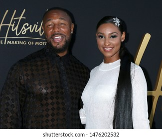 """LOS ANGELES - AUG 8:  Tank, Feather at the """"Hitsville: The Making Of Motown"""" Premiere at the Harmony Gold Theater on August 8, 2019 in Los Angeles, CA"""
