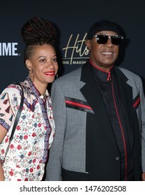 """LOS ANGELES - AUG 8:  Tomeeka Robyn Bracy, Stevie Wonder at the """"Hitsville: The Making Of Motown"""" Premiere at the Harmony Gold Theater on August 8, 2019 in Los Angeles, CA"""