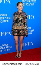 LOS ANGELES - AUG 9:  Amber Heard at the 2018 HFPA Annual Grants Banquet at the Beverly Hilton Hotel on August 9, 2018 in Beverly Hills, CA