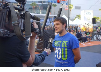 LOS ANGELES - AUG 9:  Josh Hutcherson at the Josh Hutcherson Celebrity Basketball Game benefiting Straight But Not Narrow at the Nolia Plaza on August 9, 2013 in Los Angeles, CA